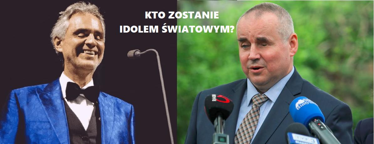 Andrea Bocelli i Paweł Wdówik